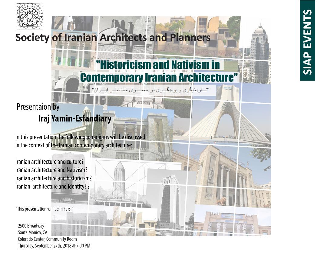 historicism and nativism in contemporary iranian architecture